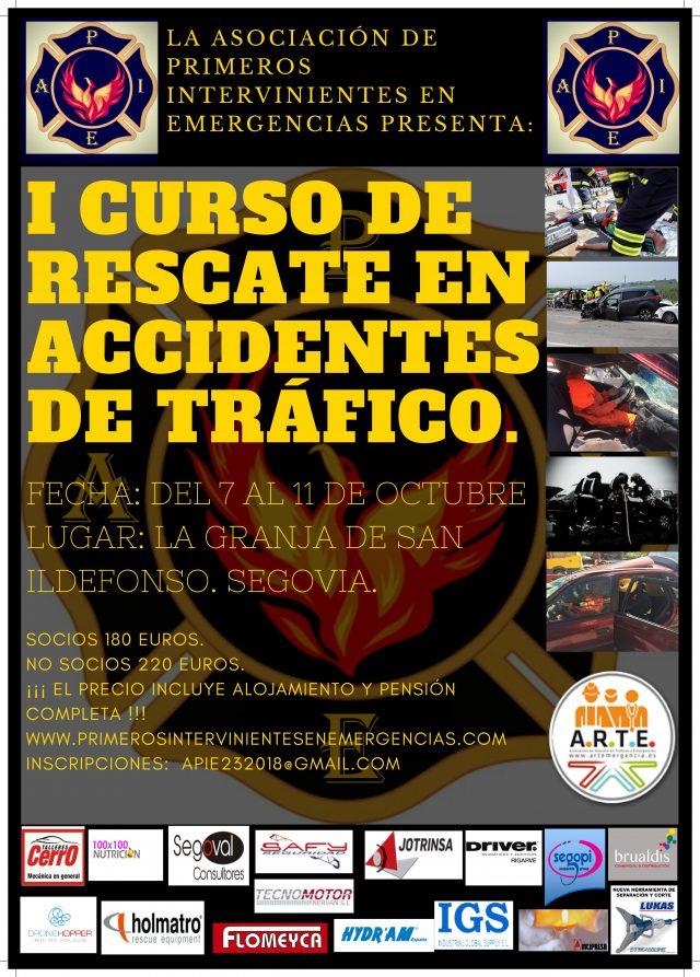 I Curso de Rescate en Tráficos, APIE. Segovia